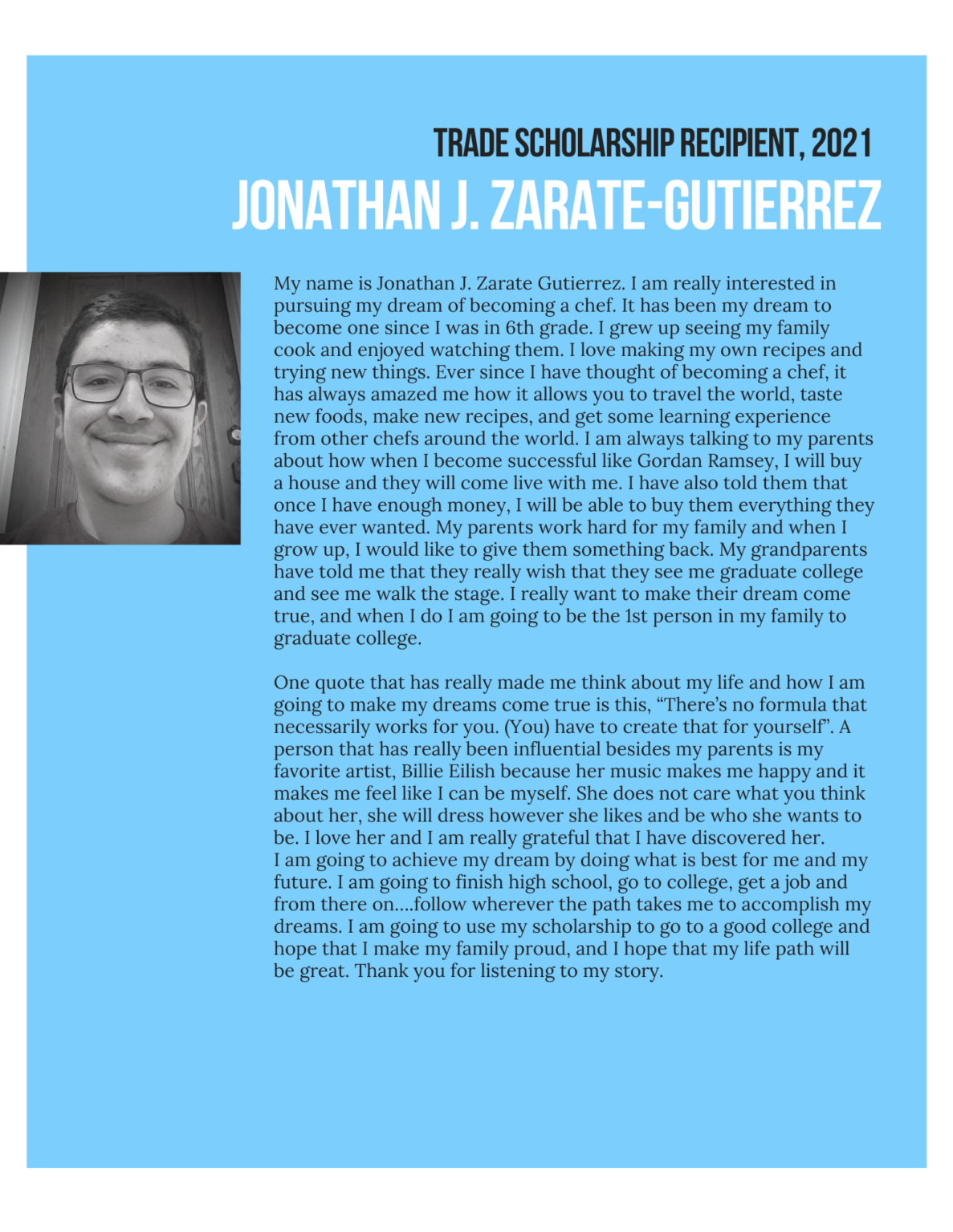 jonathan zarate essay