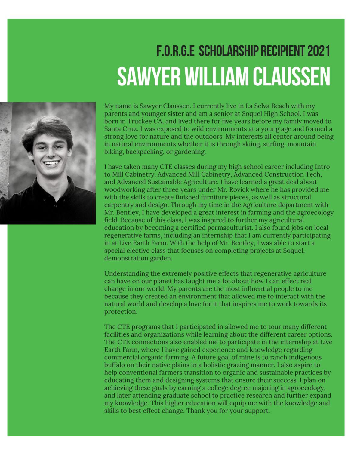 sawyer william claussen essay